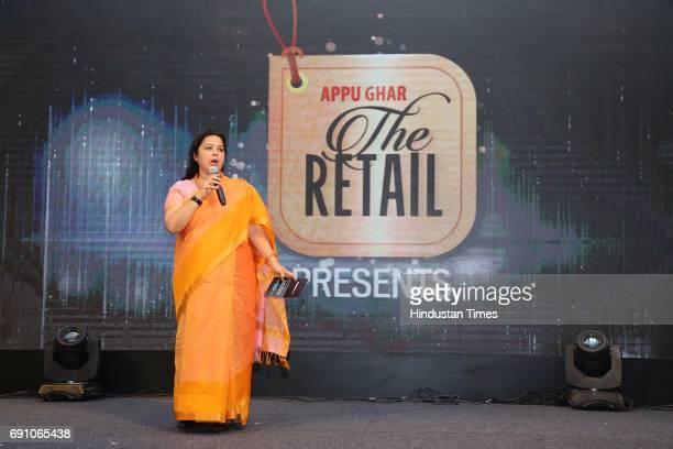 Meenakshi Lekhi during the Hindustan Times Game Changer Awards 2017 at Hotel Oberoi on May 24 2017 in Gurgaon India