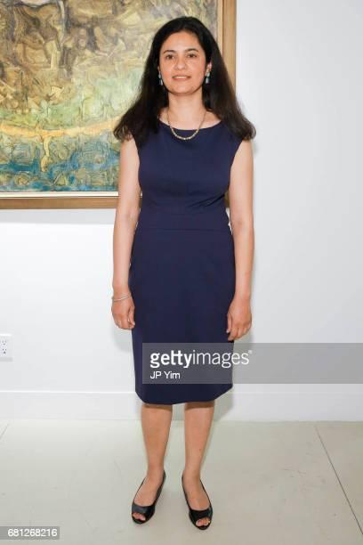 Meenakshi Mahajan attends 'A Magic Bus Cocktail Party' at DAG Modern on May 9 2017 in New York City