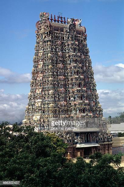 Meenakshi Temple Madurai Tamil Nadu India 17th century