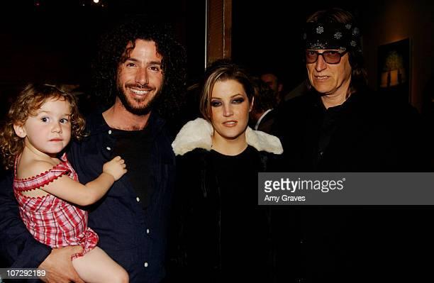Meeno and daughter Lisa Marie Presley and Gottfried Helnwein