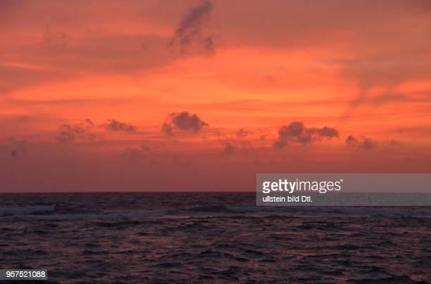 Meer, Sonnenuntergang, Colombo, Sri Lanka