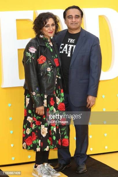 Meera Syal and Sanjeev Bhaskar attend the Yesterday UK Premiere at the Odeon Luxe Leicester Square