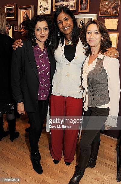 Meera Syal Lolita Chakrabarti and Cherie Lunghi attend Tricycle Theatre's 'Red Velvet The Director's Party' on November 22 2012 in London England