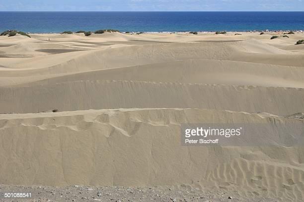 Meerblick vom 4SterneHotel Riu Palace Maspalomas Playa del Ingles Insel Gran Canaria Kanaren Spanien Europa Dünen Strand Meer Reise BB CD PNr...