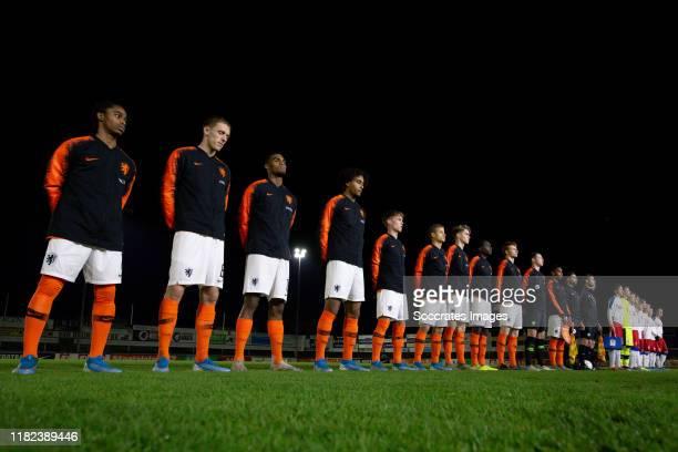 Mees Bakker of Holland U19 Jurrien Timber of Holland U19 Sepp van den Berg of Holland U19 Christopher Mamengi of Holland U19 Ramon Hendriks of...