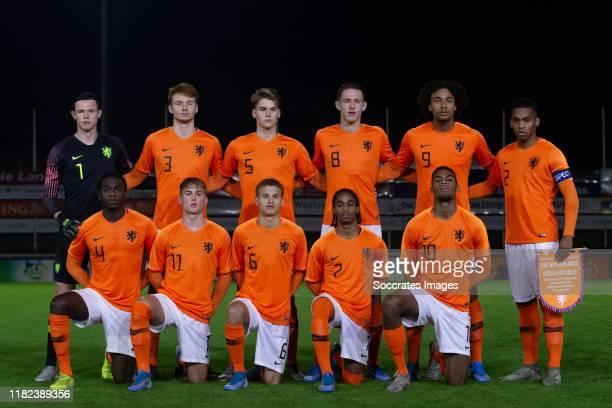 Mees Bakker of Holland U19 Sepp van den Berg of Holland U19 Ramon Hendriks of Holland U19 Wouter Burger of Holland U19 Joshua Zirkzee of Holland U19...