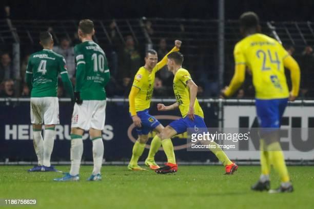 Mees Hoedemakers of SC Cambuur, 1-2 during the Dutch Keuken Kampioen Divisie match between FC Dordrecht v SC Cambuur at the Riwal Hoogwerkers Stadium...
