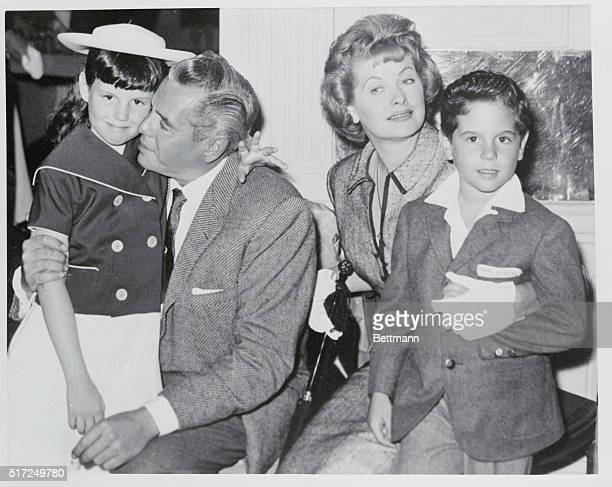 Meet a very happy family Stars of the I Love Lucy television series Desi Arnaz and flamehaired wife Lucille Ball who have been married happily for 19...