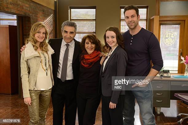 ENGELS Meet Irene Horowitz Episode 106 Pictured Azura Skye as Sandy EngelKarinsky Eugene Levy as Arthur Horowitz Andrea Martin as Ceil Engel Kacey...