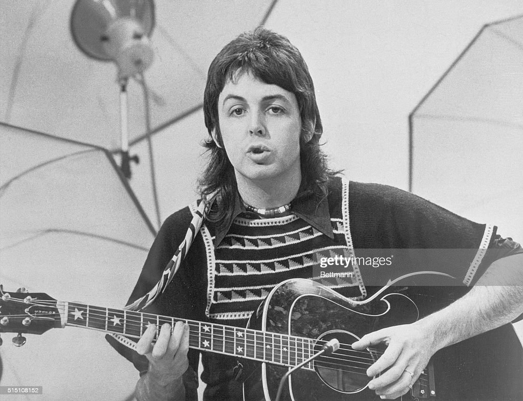 Here's Macca during a TV special performing some of his best known songs from the Beatles days as well as presumably 'Mullet Of Kintyre'