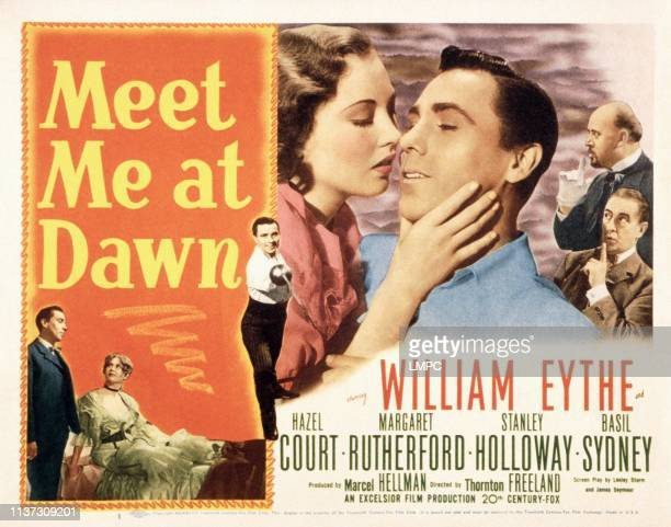 Meet Me At Dawn poster William Eythe kissing from left Hazel Court William Eythe 1947