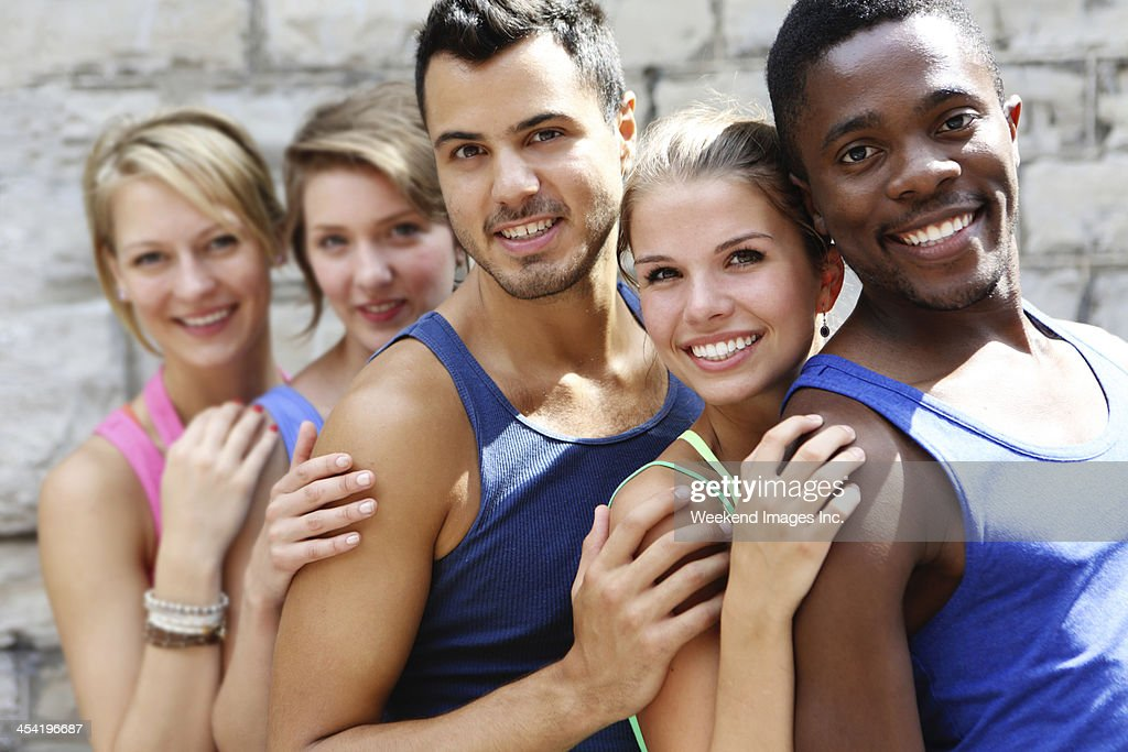 Meet our fitness team : Stock Photo