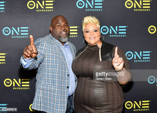 Meet The Browns stars/gospel singers David and Tamela Mann attend TV One Upfront press junket of upcoming 4Q17 and 2018 programming slate at Current...