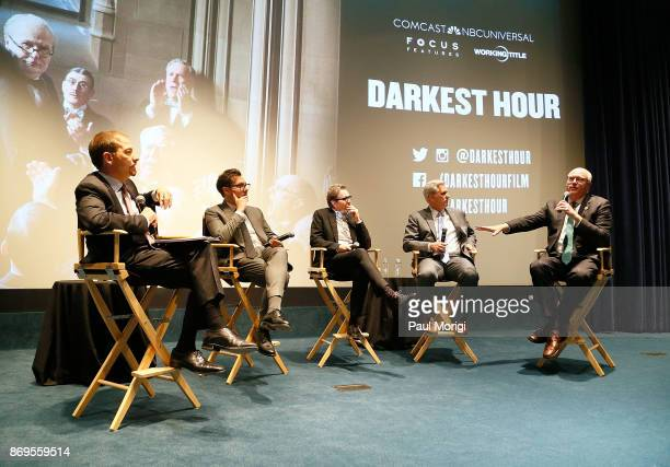'Meet the Press' Moderator Chuck Todd Director Joe Wright Actor Gary Oldman House Majority Leader Kevin McCarthy and Rep Joe Crowley participate in a...
