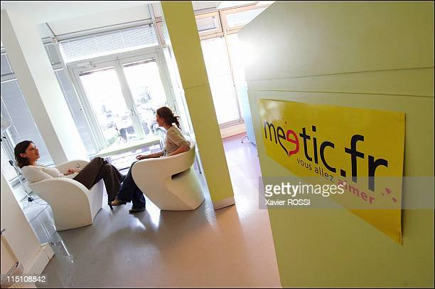 Meetic Europe's biggest online dating business makes its debut on the Paris stock exchange in Boulogne Billancourt France on October 14 2005