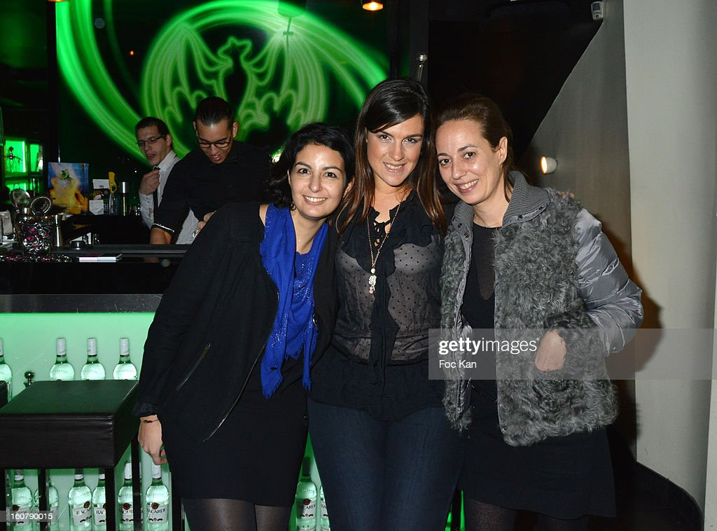 Meetic France Director Jessica Delpirou, Meetic France advertising model Ericka Berset and Meetic France marketing director Valentine Schnebelen attend the 'Meetic' Dating Party at the Mojito Club on February 5, 2013 in Paris, France.