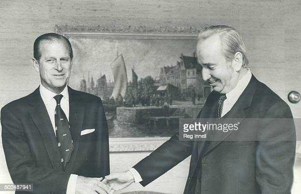 Meeting a monarch Prince Philip greets The Star's Val Sears at the Royal York Hotel evercautious of reporters As so often happens says The First...