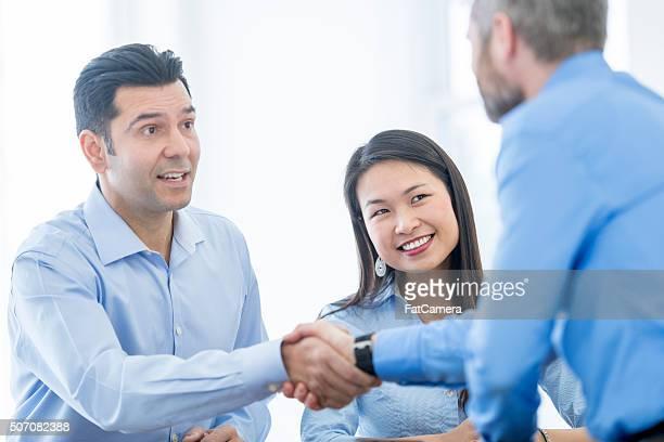 Meeting a New Associate at Work