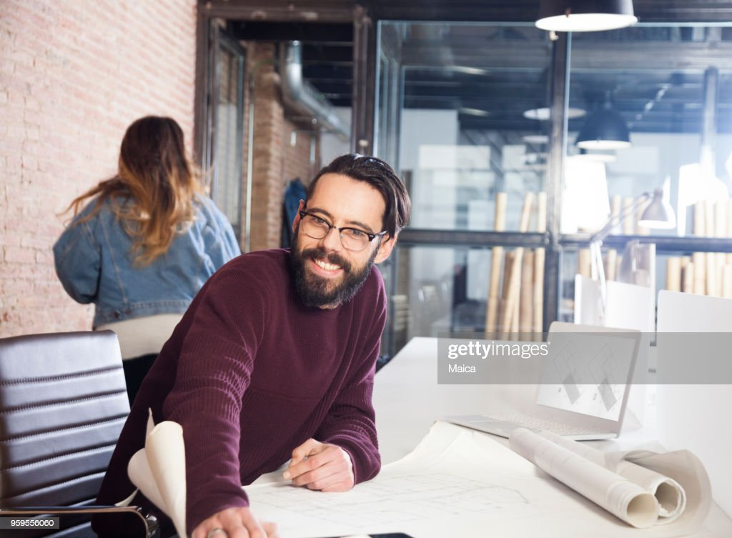 Meeting architects : Stock Photo