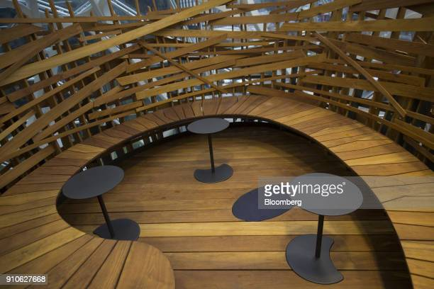 A meeting area called 'The Nest' is seen inside the Amazoncom Inc Spheres in Seattle Washington US on Tuesday Jan 23 2018 The online retailer is...