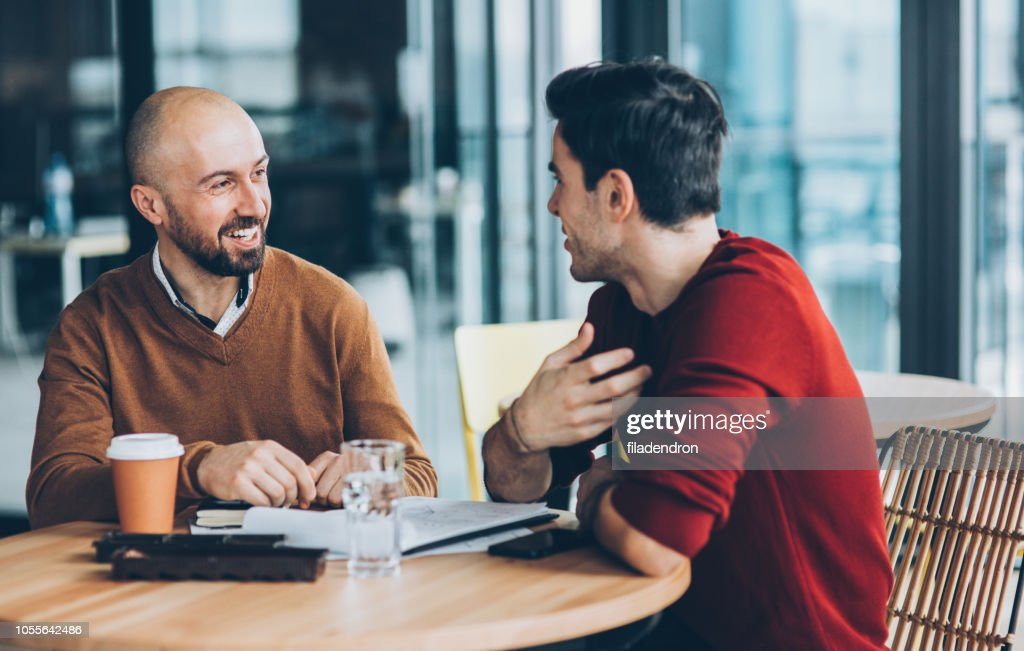 Meeting at cafe : Stock Photo