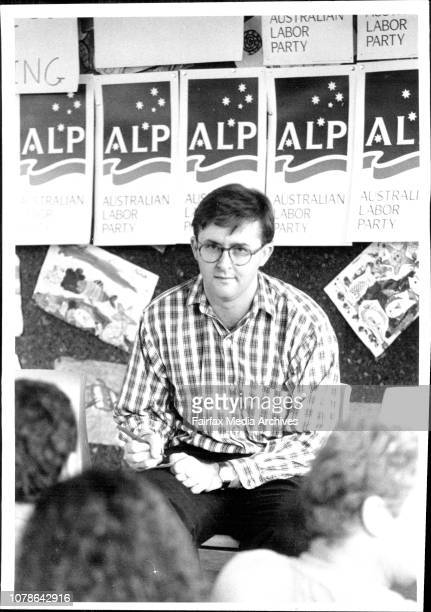 ALP meeting at Petersham Public SchoolAnthony Albanese Addresses the Crowd March 26 1994