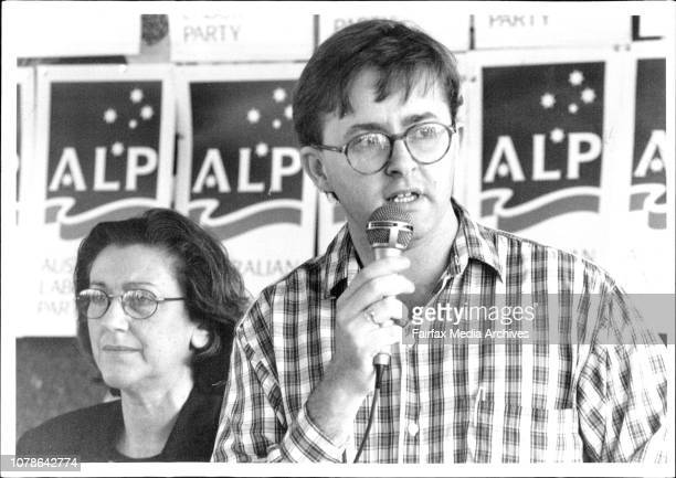 ALP Meeting at Petersham Public SchoolJeanette McHugh and Anthony Albanese March 26 1994