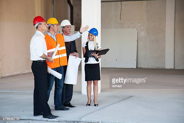 Meeting at the construction site