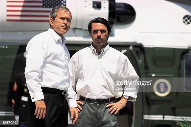 Meeting between Jose Maria Aznar and George W Bush in the country house ´Los Quintos de Mora´ Toledo