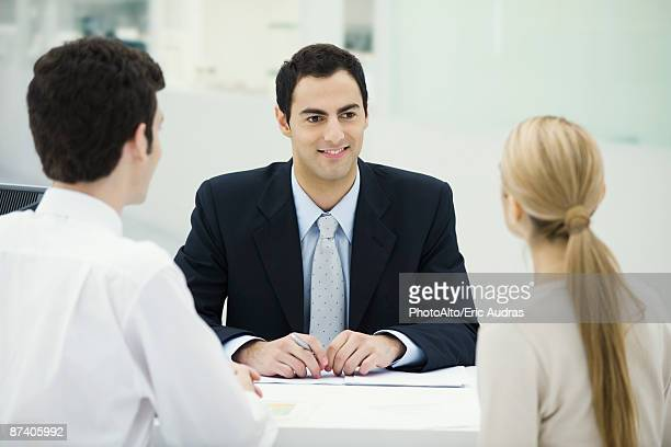 Meeting between professional and clients