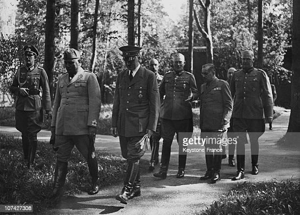 Meeting Between The Duce And Hitler In Germany On August 29Th 1941