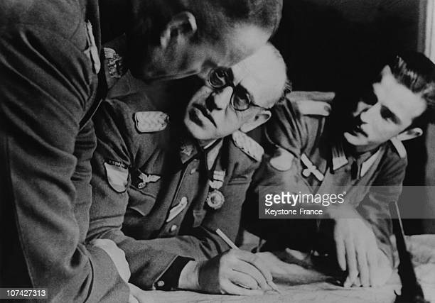 Meeting Between The Spanish Blue Division And The German Division Officers In Spain On March 11St 1943