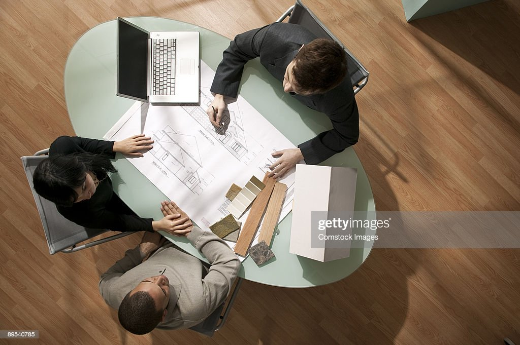 meeting from over head : Stock-Foto