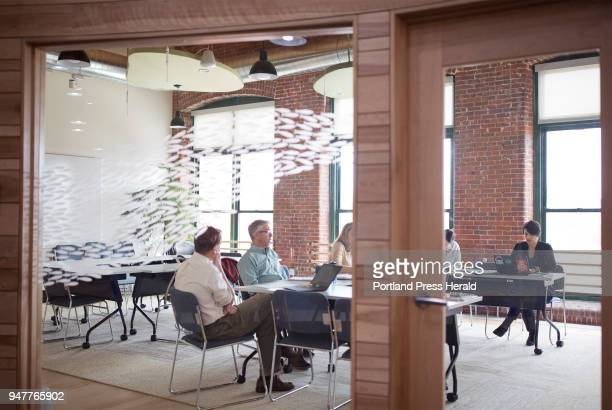 Meeting held in a conference room with the Kate Dempsey , the state director of the Nature Conservancy at their office in Brunswick. The company...