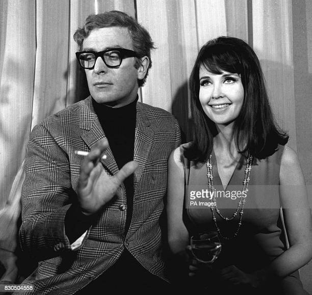 Meeting in a London restaurant are Michael Caine and Anjanette Comer who are to play in the film 'Funeral in Berlin' the screen version of Len...