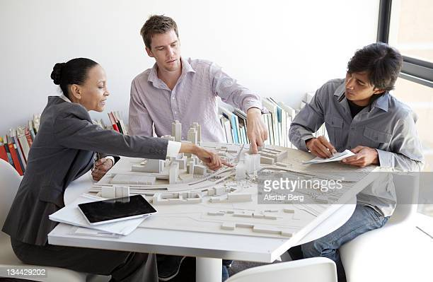 Meeting in an architects office