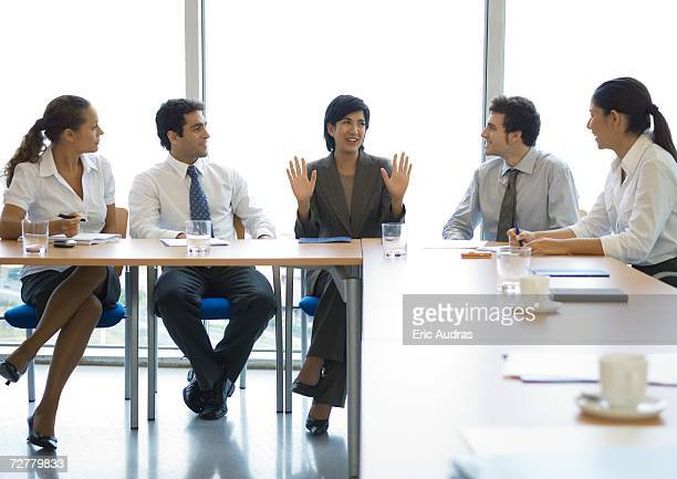 meeting in conference room - shareholder stock photos and pictures