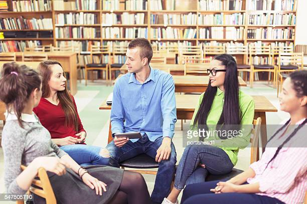 Meeting in the library