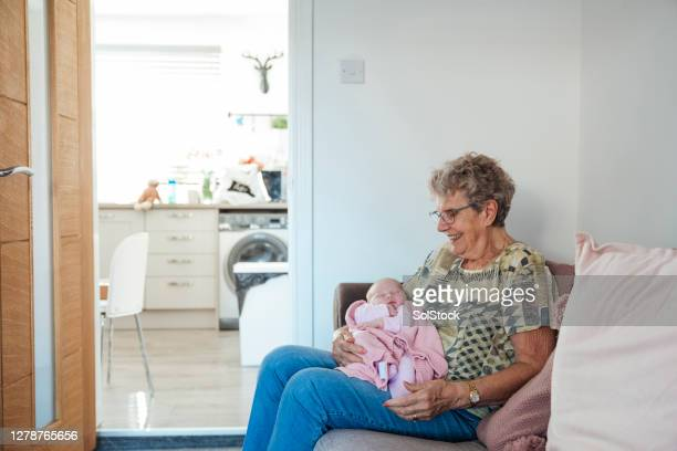 meeting my great granddaughter - awe stock pictures, royalty-free photos & images