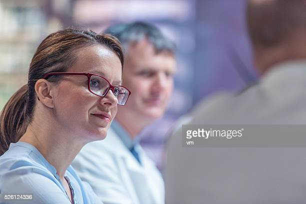 meeting of doctors - executive director stock pictures, royalty-free photos & images