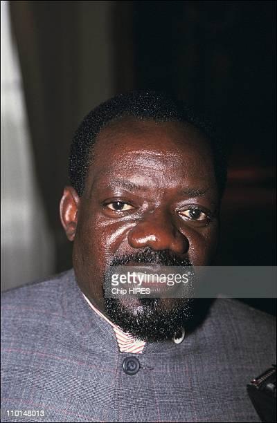 Meeting of Jonas Savimbi and Roland Dumas in Paris France on June 05 1991