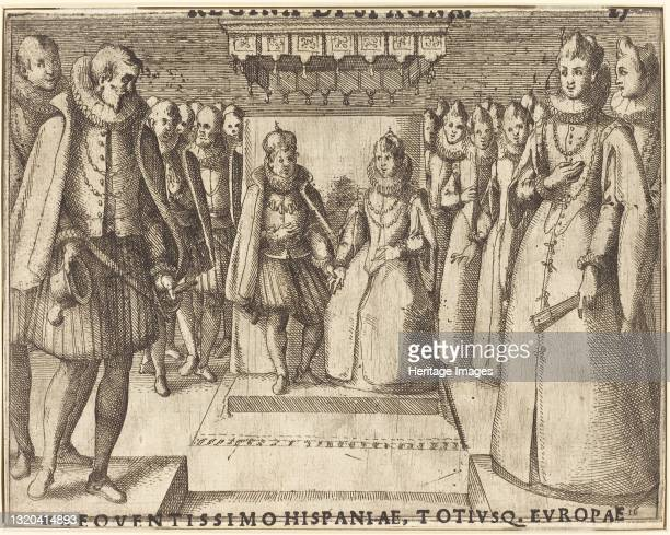 Meeting of Margaret of Austria and Philip III [recto], 1612. Artist Jacques Callot.