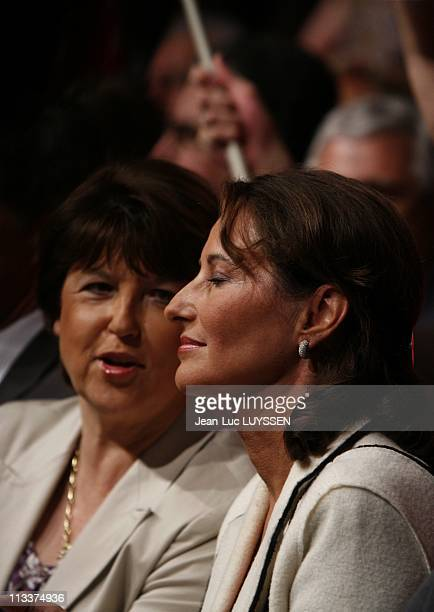 Meeting Of Martine Aubry And Segolene Royal For European Elections In Reze France On May 27 2009 Meeting of Socialist Party in Reze Martine Aubry and...