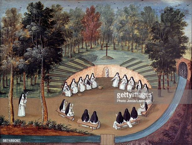 Meeting of religious sisters at 'PortRoyal des Champs' Nons' assembly of the Abbey of Port Royal des Champs Anonymous Painting of the 18th century...