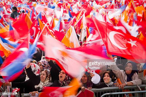 Meeting of the AKP with the presence of Recep Tayyip Erdoan in front of a 15 millions crowd reunited in Yenikapi square in Istanbul He told to the...