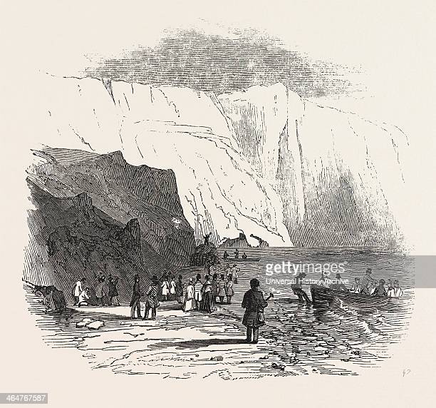 Meeting Of The British Association At Southampton: Alum Bay, Isle Of Wight, The Geologists Landing, 1846.