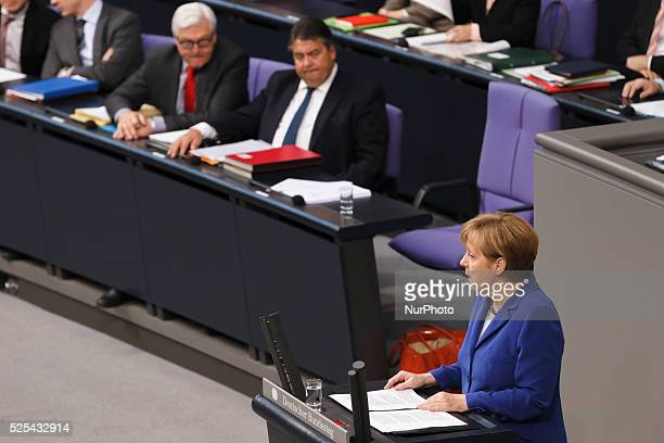60 Meeting of the Bundestag Delivery of a governmental declaration by the German Chancellor Angela Merkel to the ASEM summit on the 16th/17th of...