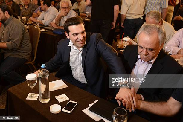 Meeting of the Central Committee of SYRIZA. On May 23, 2015 in Athens In photo: Prime Minister Alexis Tsipras and Deputy PM Giannis Dragasakis