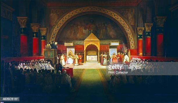 Meeting of the Chapter of the Knights Templar under Robert de Bouguignon held in Paris in the presence of Louis VII of France and Pope Eugene III 22...