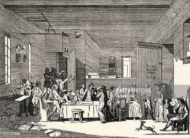 Meeting of the Committee of Public Safety Meeting of the Committee of Public Safety during the Reign of Terror in France c 1794 Under the supervision...